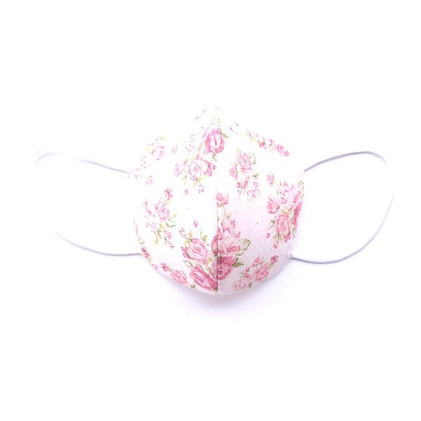 mascarilla flores rosas