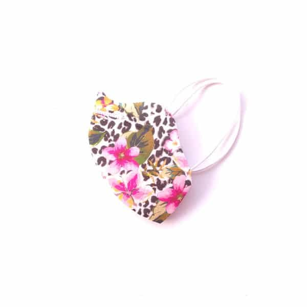 mascarilla leopardo flores